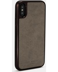 Xxs Brown Suede Connected Iphone Case nk80OPXw