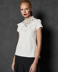 Ted Baker - Aurra Superstar Lace - Inset Top - Lyst