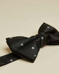 Ted Baker Set De Regalo Gemelos Y Pajarita Diseño De Estrella - Negro