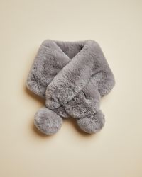 Ted Baker Faux Fur Pom Snood - Gray