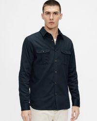 Ted Baker Military Style Shirt - Blue