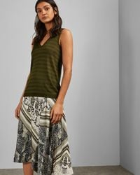 Ted Baker Knitted Sleeveless Tank Top - Green
