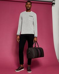 Ted Baker - Pocket Detail Cotton Sweatshirt - Lyst