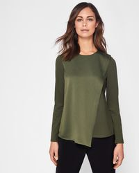 Ted Baker - Asymmetric Wrap Long Sleeved Top - Lyst