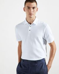 Ted Baker Textured Cotton Polo - White