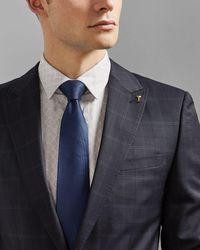 Ted Baker Plain Silk Tie - Blue