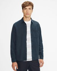 Ted Baker Ls Relaxed Overshirt - Blue