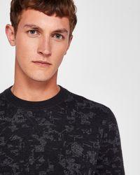 Ted Baker - Interest Jacquard Wool-blend Jumper - Lyst