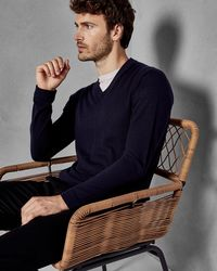 Ted Baker - V-neck Wool Sweater - Lyst
