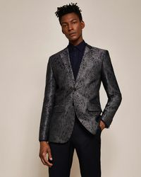 Ted Baker - Global Paisley Jacquard Jacket - Lyst