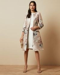 Ted Baker Woodland Print Dress Coat - Multicolour