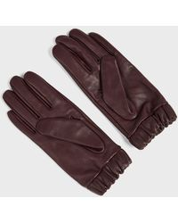 Ted Baker Ruched Cuff Leather Gloves - Lila
