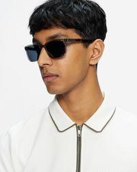 Ted Baker Tbm074 Rectangle Sunglasses - Gray