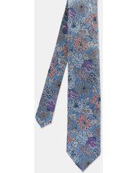 Ted Baker Floral Silk Tie - Azul