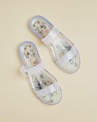 Ted Baker Vanilla Double Strap Jelly Sandals - Blanco