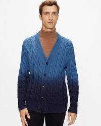 Ted Baker Ls Ombre Cardigan - Blue