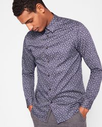 Ted Baker - Paisley Print Cotton Shirt - Lyst