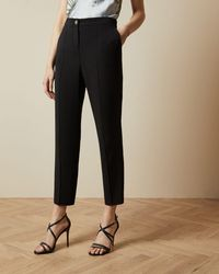Ted Baker Straight Ankle Trousers - Black