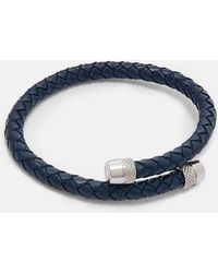 Ted Baker - Knurling Leather Bracelet - Lyst