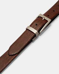 Ted Baker Lizard Reversible Leather Belt - Black