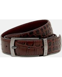 Ted Baker - Reversible Leather Belt - Lyst