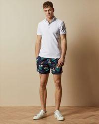 Ted Baker Printed Swim Shorts - Blue