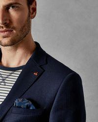 9ed17f1a0af7 Ted Baker Endurance Sterling Semi Plain Wool Suit Jacket in Blue for ...