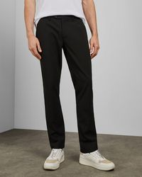 Ted Baker Slim Fit Dotted Trousers - Black