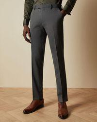 Ted Baker Pantalón De Traje Liso - Gris
