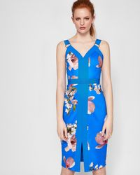 Ted Baker - Harmony Contrast Panel Bodycon Dress - Lyst