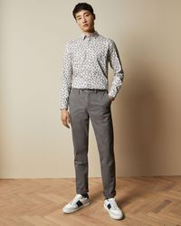 Ted Baker Slim Fit Chinos - Gray