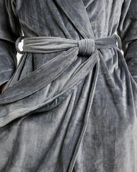 Ted Baker Long Hooded Robe - Grau