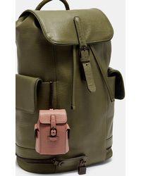 Ted Baker Leather Backpack Keyring - Pink