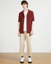 Ted Baker Camisa Manga Corta Punto - Rosa