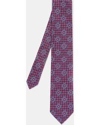Ted Baker - Tile Print Silk Tie - Lyst