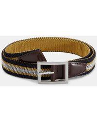 Ted Baker Reversible woven belt - Azul