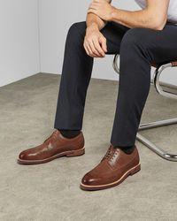 Ted Baker Chaussures En Cuir Pour Homme - Marron
