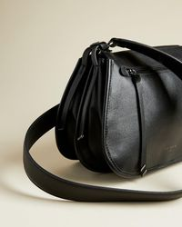 Ted Baker Zip Detail Curved Satchel - Black