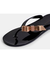 2fe1a0516c04 Ted Baker - Bow Detail Jelly Flip Flops - Lyst
