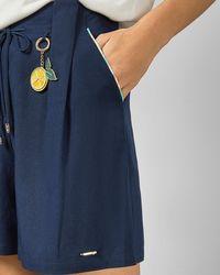 Ted Baker Printed Paperbag Shorts - Blue