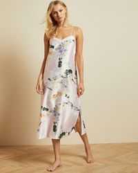 Ted Baker Elegant Strappy Midi Nightgown - Rosa
