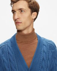 Ted Baker Ombre Knit Cardigan - Blue