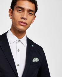 b62349fad721 Ted Baker Linen Suit Jacket in Gray for Men - Lyst