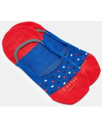 Ted Baker - Spotted Cotton Trainer Liners - Lyst