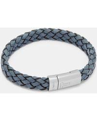 Ted Baker Woven Leather Bracelet - Blue