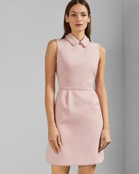 Ted Baker - Ezzy Curved Hem Scallop Detail Dress - Lyst