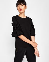 Ted Baker - Statement Bow Sleeved Top - Lyst