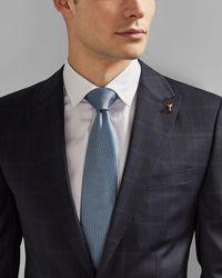 Ted Baker Cravate En Soie Unie - Bleu
