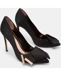 Ted Baker - Knotted Bow Satin Courts - Lyst