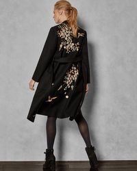 Ted Baker - Graceful Embroidered Wool Coat - Lyst